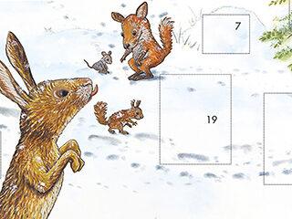 Adventskalender – Spuren im Schnee